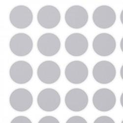 Etichette ScratchOff argento 15x15mm forma rotonda